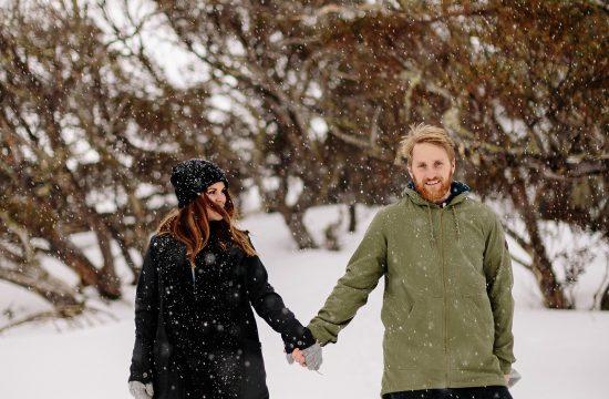 Canberra Wedding Photographer snowy engagement